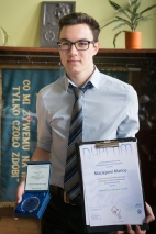 Maciej Mańka laureatem 28. Konkursu Prac Młodych Naukowców Unii Europejskiej - 11 kwietnia 2016
