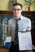 Maciej Mańka laureatem 28. Konkursu Prac Młodych Naukowców Unii Europejskiej
